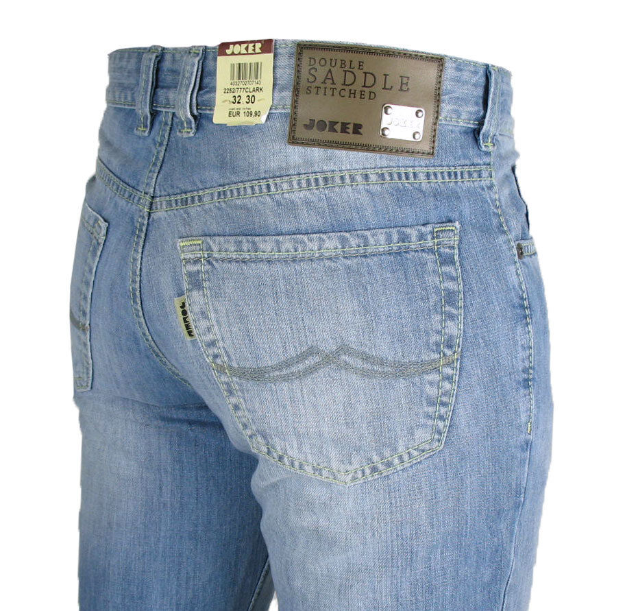 JOKER Jeans Clark 2252 777 (Comfort Fit) BLU LUMINOSO mancrafted