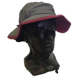 Details about Winter Outdoor Wide Brim Nylon Shell Fleece Lined Boonie Hat  - SIZE MED LRG 39a03a90253