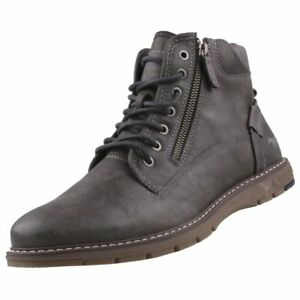 Schuhe Stiefel Herrenstiefel Stiefeletten Details Boots Neu Zu Herrenschuhe Grau Mustang wP08nkO
