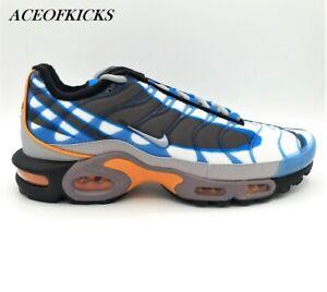 Nike Air Max Plus Prm Photo Blue Orange Us Sz 8 5 9 5 Men S 815994