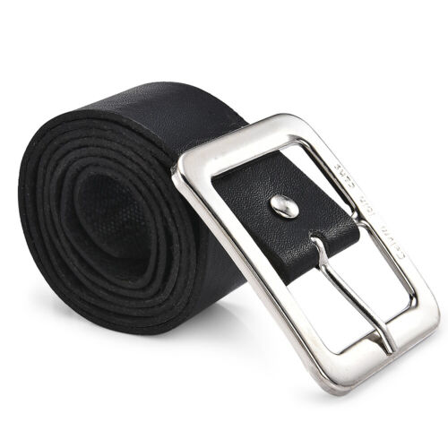 Men Casual Pin Buckle Waist Strap Belts PU Leather Waistband Dress Belt Gift