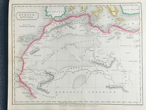 1829-ANCIENT-AFRICA-HAND-COLOURED-ANTIQUE-MAP-BY-SIDNEY-HALL-191-YRS-OLD