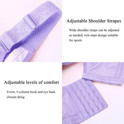 UK Women Push Up Bras Full Coverage Bra Wireless Deep V Lace Gather Underwear EL