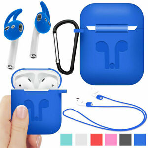 Silicone Ruggged Case Cover + Earbuds For Apple AirPods