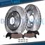 Front Drilled Brake Rotors /& Ceramic Pads for Honda Ridgeline Brakes Rotor Pad