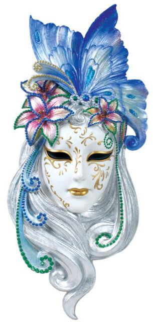 Art Deco Lady Butterfly Venetian Mask Wall Decor - SHIPS IMMEDIATLY !