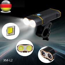 LED Wiederaufladbare 15000LM Fahrrad Licht Scheinwerfer Frontlicht Stirnlampe wG
