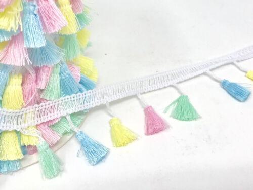 20mm Tassle Pastel Tassel Fringe Trim 38mm Drop New Baby Embellishment