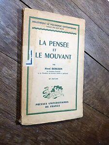 Henri-Bergson-La-Pensee-et-le-Mouvement-1946-Presses-Universitaires-de-France