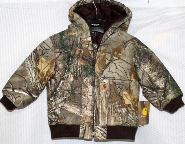 18 Months Realtree Xtra Carhartt Kids CP8467 Real Tree Xtra Camo Jacket Boys