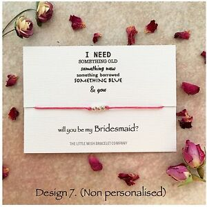 will you be my bridesmaid wish bracelet chief flower girl maid