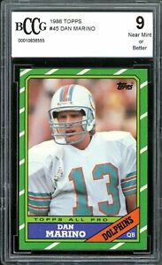 1986-Topps-45-Dan-Marino-Card-BGS-BCCG-9-Near-Mint
