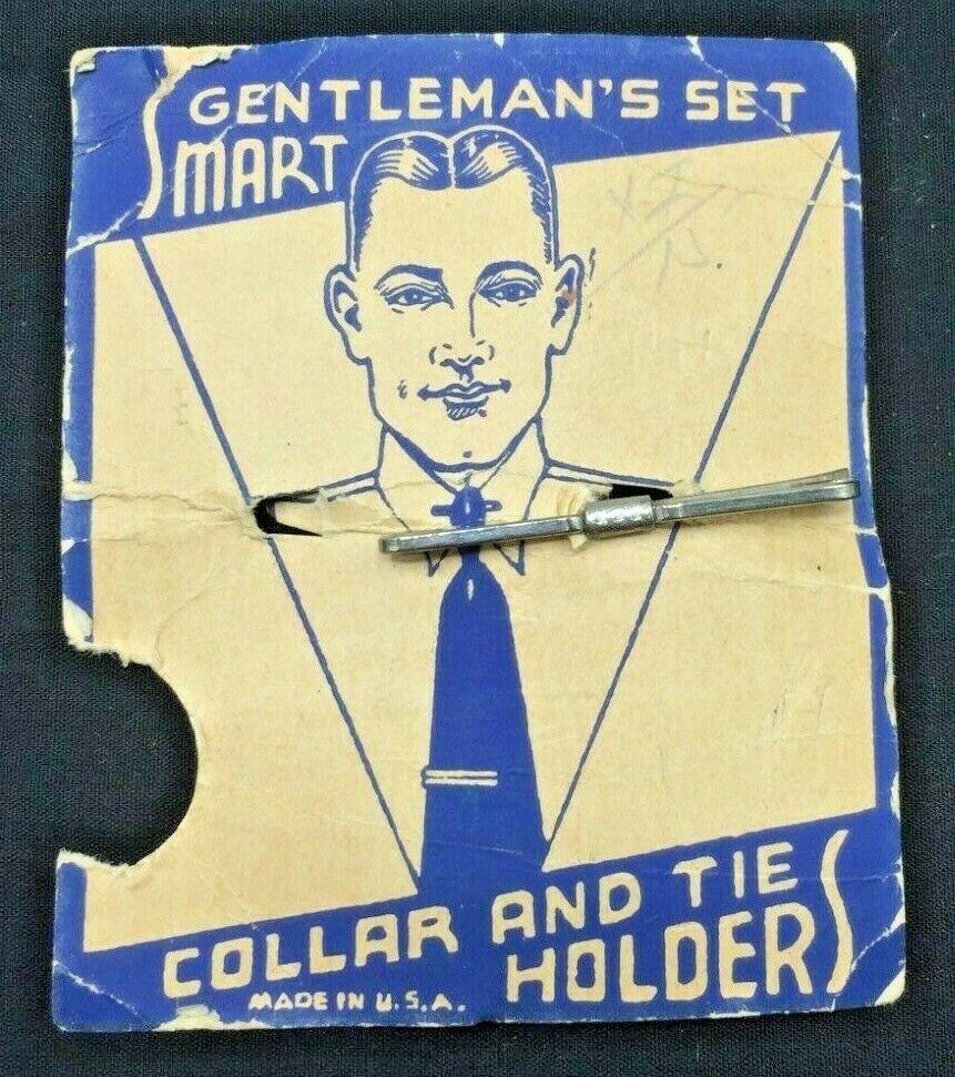 Vintage Tie Holder - Gentleman's Set - On Original Paper