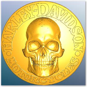 Petrobond-Delft-Clay-Push-Mold-Pattern-Harley-Skull-Pattern