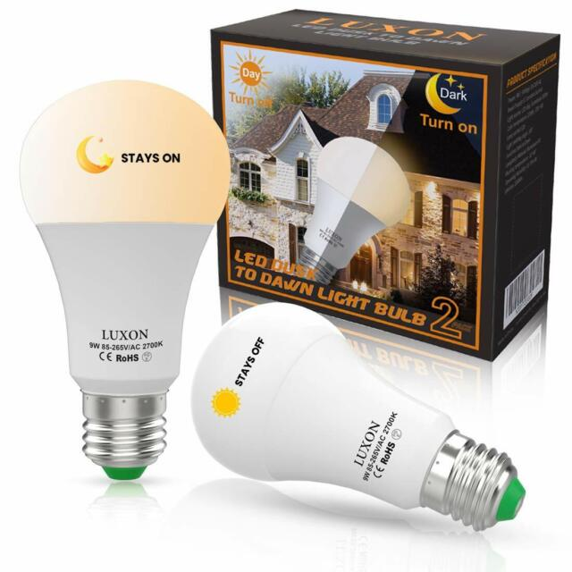 Dusk To Dawn Led Bulbs Sensor Light Bulbs Smart Lighting Lamp 9w E26  E27