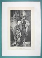 FELLAH WOMEN Water Carriers - 1888 Antique Print