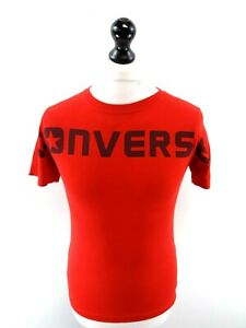 CONVERSE-Boys-T-Shirt-Top-12-13-Years-Boys-L-Large-Red-Cotton