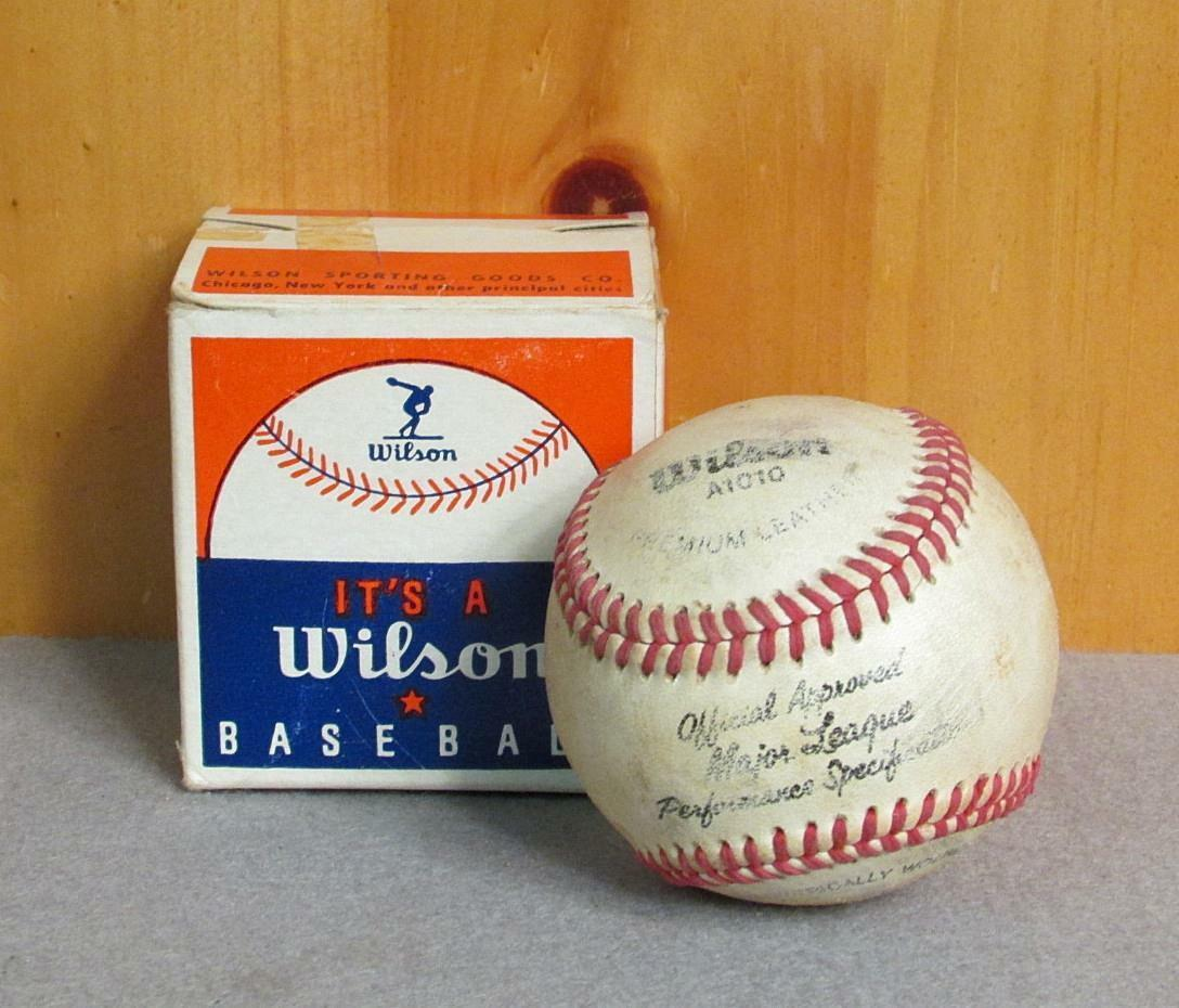 Vintage Wilson Offizielle Major A1010 League Leder Baseball A1010 Major mit Original 29e2c2