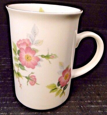 St George Fine Bone China Floral Cup Coffee Mug Pink Wild Rose England NICE