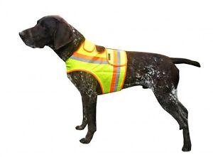 B-Ware-Hunde-Warnweste-mit-Reflektionsstreifen-gelb-orange-Dackel-bis-Drahthaar