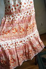 gorgeous LIZ LISA maxi long tiered red flower floral paisley skirt white uk 12