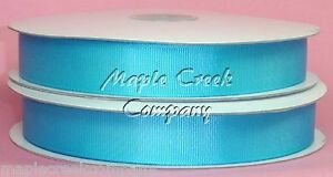 TURQUOISE-Grosgrain-Ribbon-Roll-ASSORTED-WIDTHS-Sewing-and-Decorating
