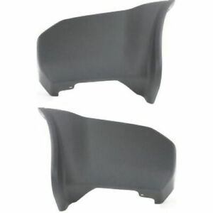 New Pack Set of 2 Bumper Face Bar Ends Extensions Left /& Right Side Front Truck