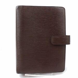 Authentic-Louis-Vuitton-Diary-Cover-Agenda-MM-Brown-Epi-380432