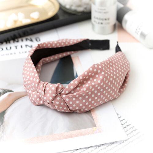 Details about  /Girls Knot Headband Dot Print Hairband Hair Band Headwear Head Band Headwear