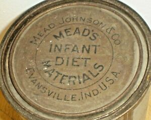 Vintage Mead's Dextri-Maltose 5 lb Baby Food Tin Can w/ Lid Evansville, Indiana