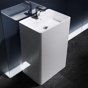 Details zu Waschsäule Stand-Waschbecken Waschtisch-Säule Design Colossum34  aus Mineralguss