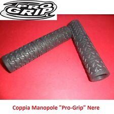 """Coppia Manopole """"Pro-Grip"""" in PVC colore Nero x bici 27,5-29 MTB Mountain Bike"""