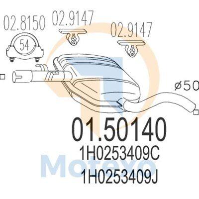 Acquista A Buon Mercato Mts 01.50140 Scarico Volkswagen Vento 1.6i, Gt 100bhp 10/94 - 04/98- Aspetto Attraente