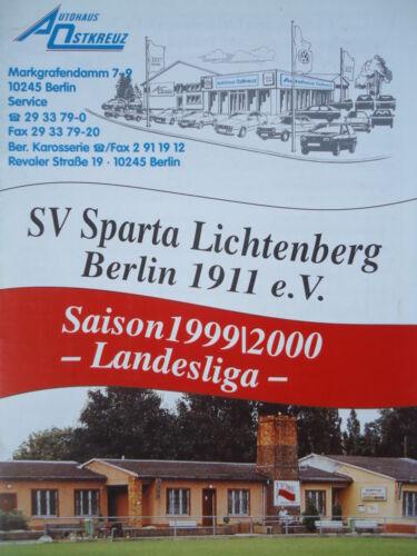 Programm 1999//00 SV Sparta Lichtenberg Stern 1900