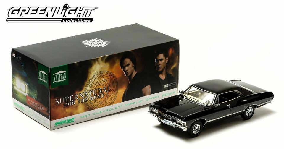 1:18 verdelight film modello Supernatural 1967 CHEVROLET IMPALA SUPER SPORT SEDAN