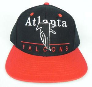 ATLANTA-FALCONS-NFL-VINTAGE-SNAPBACK-2-TONE-BLACK-RED-LOGO-LETTERS-CAP-HAT-NEW