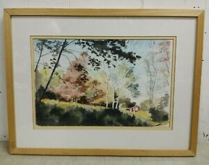 Original-Framed-Watercolor-034-The-Hideaway-034-Signed-Jean-K-Cobb-Chester-Vermont