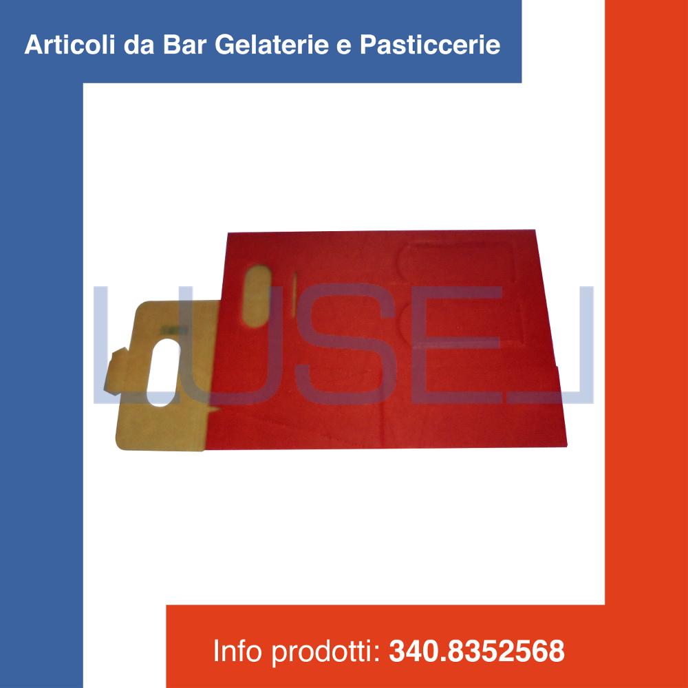 PZ 80 rouge BOX SCATOLA PORTABOTTIGLIA ROSSA (2 BOTTIGLIE) IN CARTONE ONDULATO
