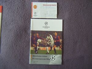1999 Champions League Qtr Final  Man United v Inter Milan  Program amp Ticket - Ringwood, Hampshire, United Kingdom - 1999 Champions League Qtr Final  Man United v Inter Milan  Program amp Ticket - Ringwood, Hampshire, United Kingdom