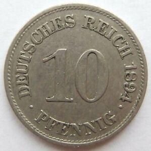 Top-10-Pfennig-1894-E-en-Tres-Beau-Rarement