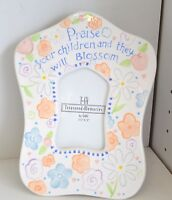 Ganz Treasured Memories Frame Children Blossom Flower Bella Casa Peach White