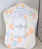 Ganz Treasured Memories Frame Children Blossom Flower Bella Casa Peach White