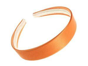 Image is loading Bright-Orange-Satin-Alice-Band-Hair-Band-Headband- 809037f83e9