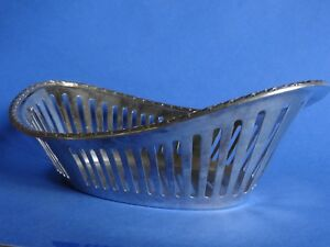 Intelligent Ancienne Corbeille Metal Argente Manufacture Saglier Frere Style Empire