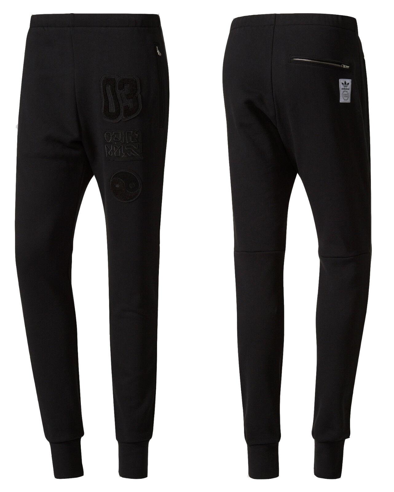 Adidas Original Winter Jogginghose Trainingshose Schwarz Herren BS2639 M14