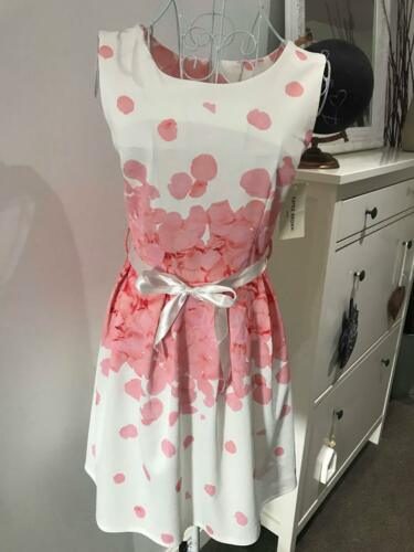 Floral Ladies Skater Dress Wedding Guest Outfit Race Day Occasion Party Dresses