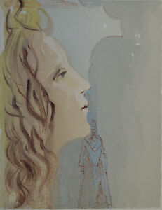 Dali Salvador: Paradise 8 - Holz Graviert Original # Göttliche Komödie #1960