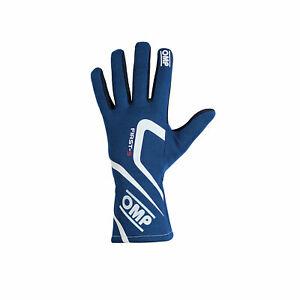 Neu OMP Handschuh FIRST-S MY18 Blau (Homologation FIA) (XL)