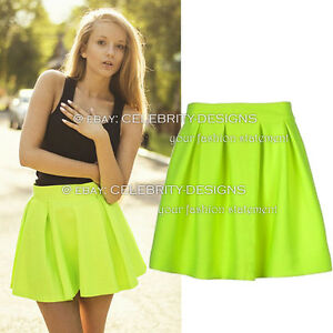 sk85-Celebrity-Style-Neon-Coloured-High-Waisted-Pleated-Flared-Skater-Skirt
