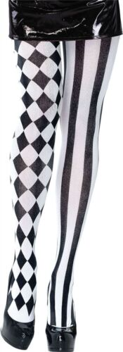 Collant da Buffone Arlecchino Festa Di Halloween Costume Donna Collant Checker